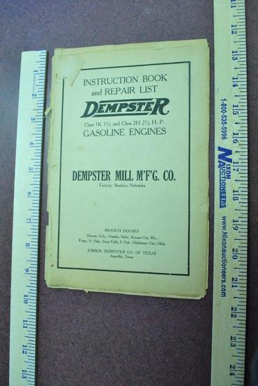 Dempster Instruction and Repair List