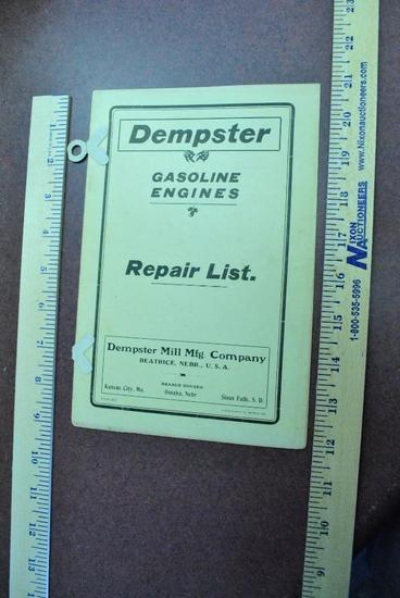 Dempster Gasoline Engine Catalog