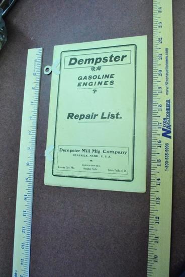 Dempster Gasoline Engines Repair List