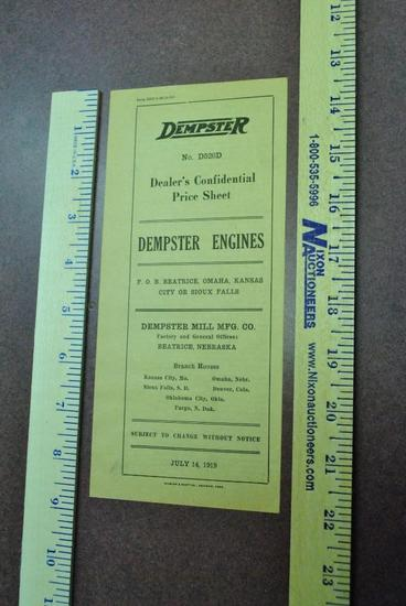 1919 Dempster Engine - Dealers