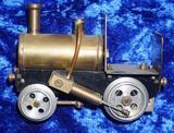 Miniature Brass Steam Locomotive