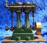 Two Cylinder Upright Stationary Steam Engine