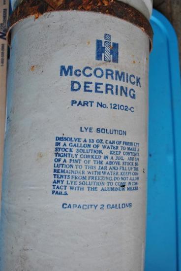 IHC Lye Solution Crock