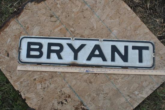 Bryant Porcelian Street Sign