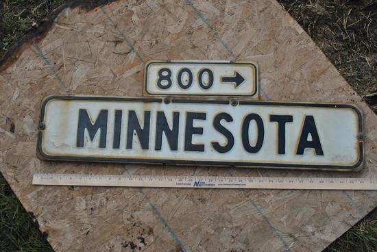 Minnesota 800 Porcelain Sign