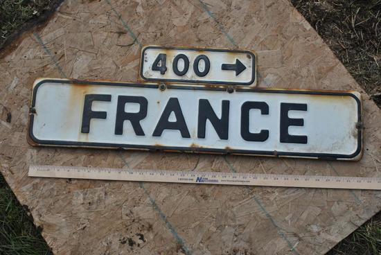 France 400 Porcelain Sign