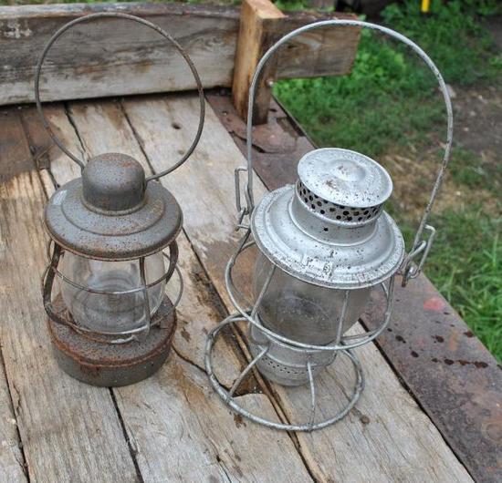 Pair Railroad style Lanterns
