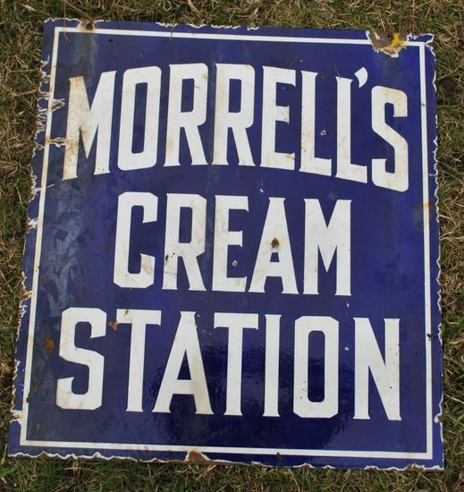Morrells Cream Station Sign