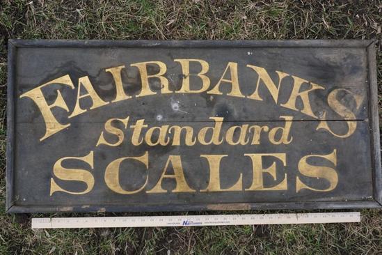 Fairbanks Standard Scales Wood Sign