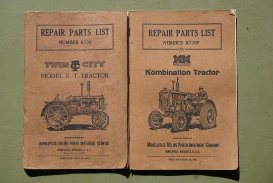 Two Repair parts list for Twin City tractor