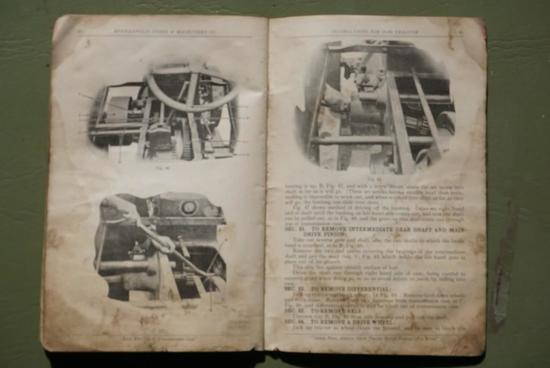 Instruction Book for 12-20 Twin City tractor.
