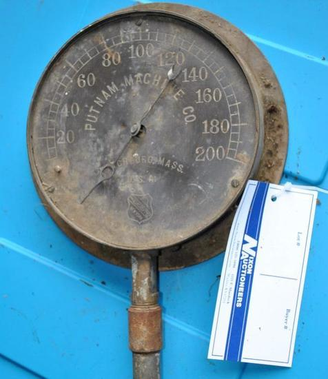 Putnam Machine Co. Steam Gauge