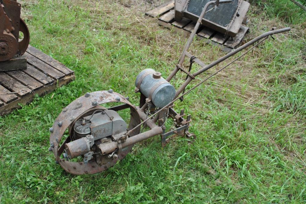 Walk Behind Garden Tractor with motor in Wheel