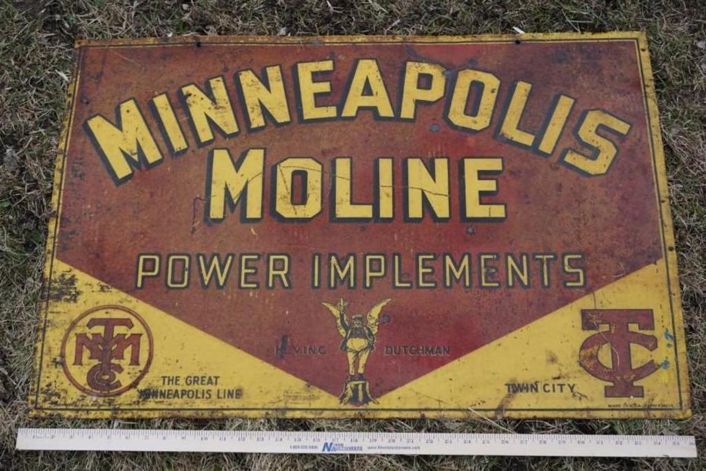 Minneapolis Moline Porcelain Sign