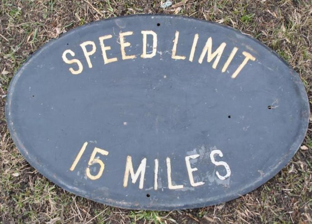 Cast Speed Limit Sign