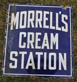 Morrells Cream Station Sign