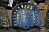 Evans Cast Iron Seat