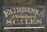 Fairbanks Standard Scales Wood Sign