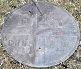 Cast Railroad Sign