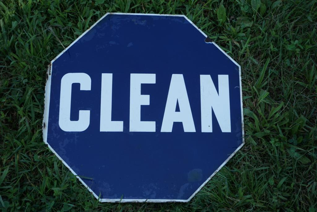 "Porcelain ""Clean"" Sign"