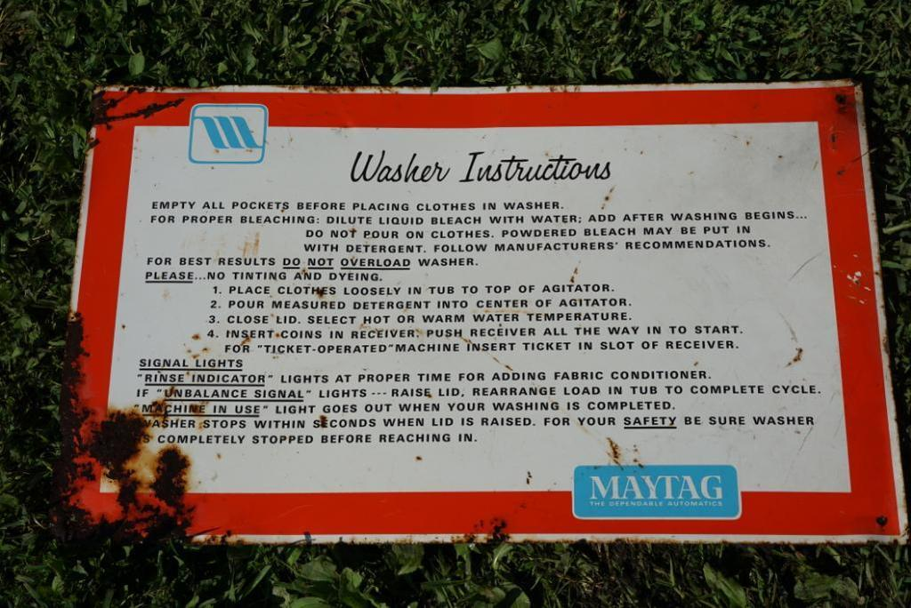 Maytag Sign