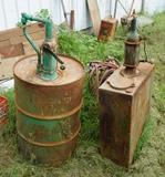 Two Barrels with Hand Pumps