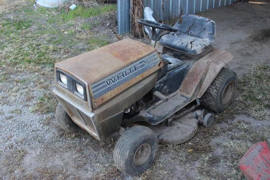 White Garden Tractor