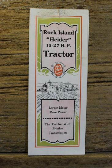 "Rock Island ""Heider"" 15-27 HP Tractor Fold Out Brochure"