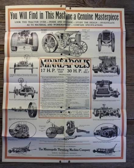 The Minneapolis Threshing Machine Company Folded Brochure