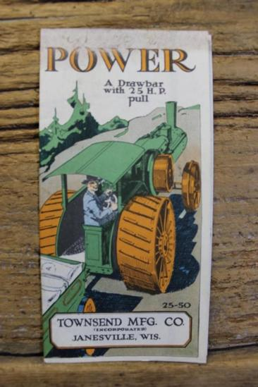 Townsend Mfg. Co. Folded Brochure