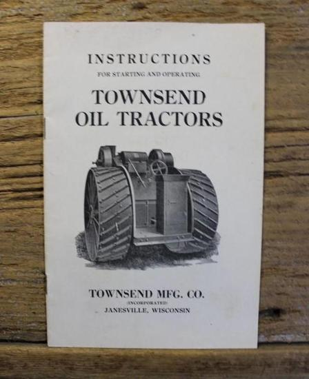 Instructions For Starting And Operating Townsend Oil Tractors