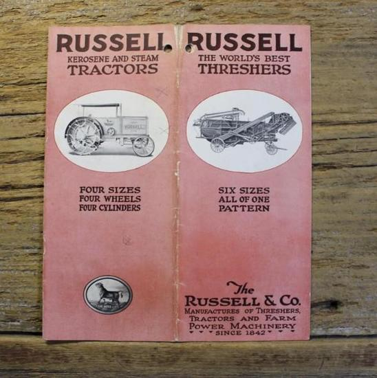 Russell Kerosene and Steam Tractors Brochure