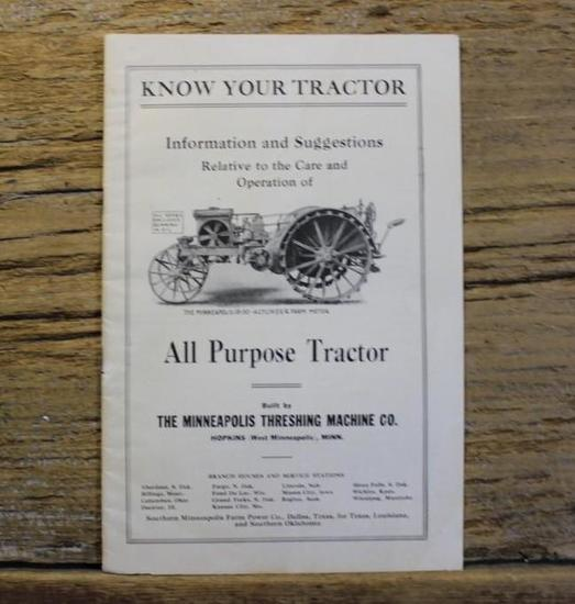 Know Your Tractor - The Minneapolis Threshing Machine Co.