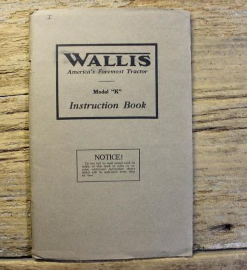 Wallis Model K Instruction Book