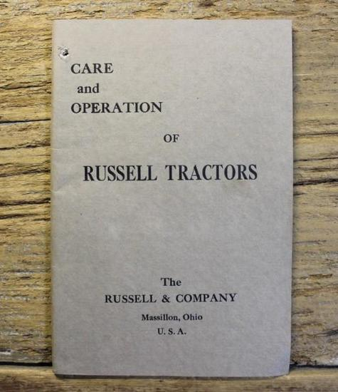 Care and Operation Of Russell Tractors