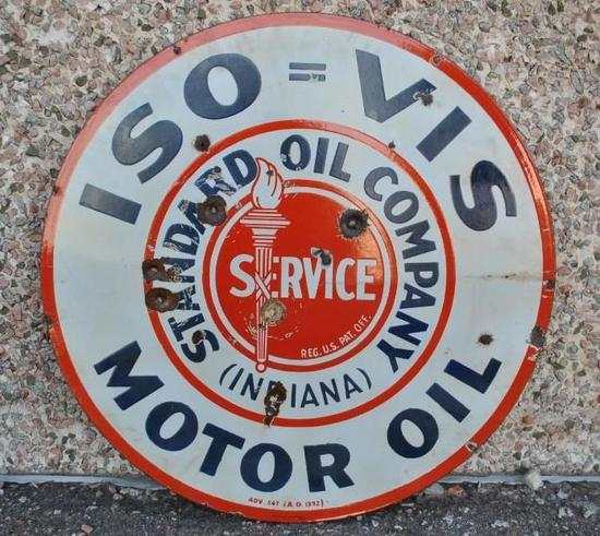 Standard Motor Oil Porcelain Sign