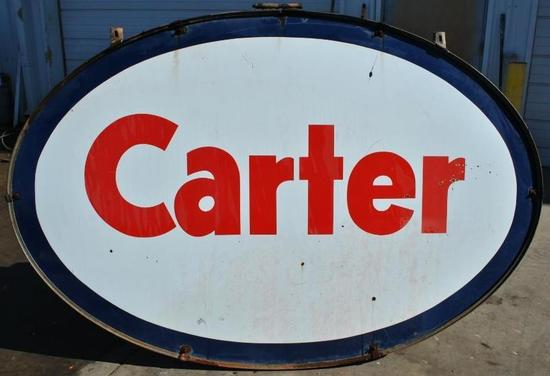 Carter Porcelain Petroleum Large Double Sided Sign