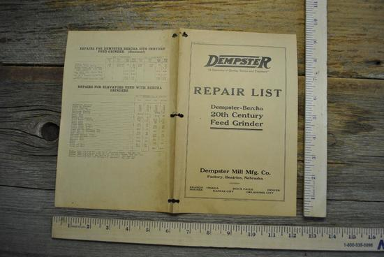 Dempster Repair List