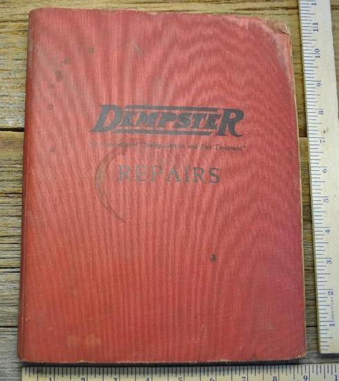 Dempster Repairs binder - 1931