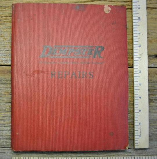 Dempster repairs - binder - 1937