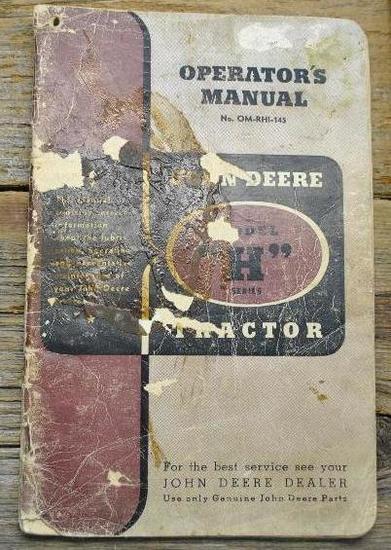 John Deere H Manual