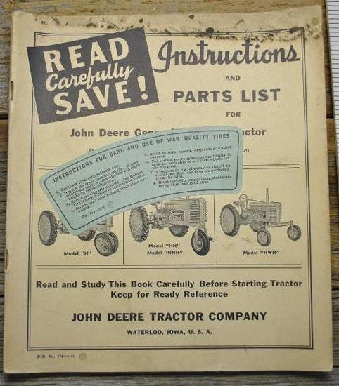 John Deere Instruction Manual