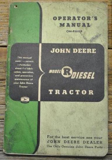 """John Deere """"R"""" Manual"""