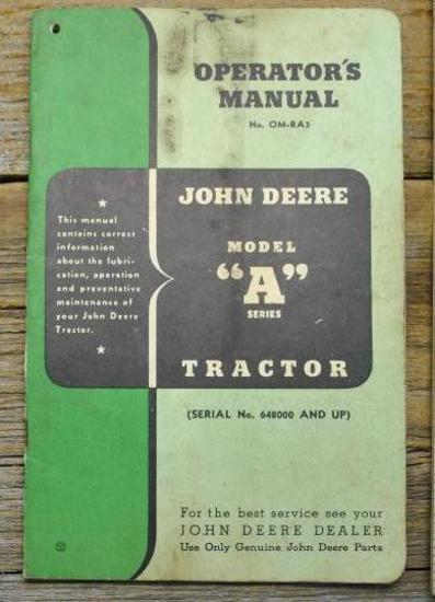 John Deere Model A Manual