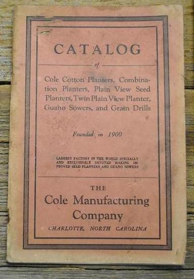 Cole Manufacturing Company Catalog