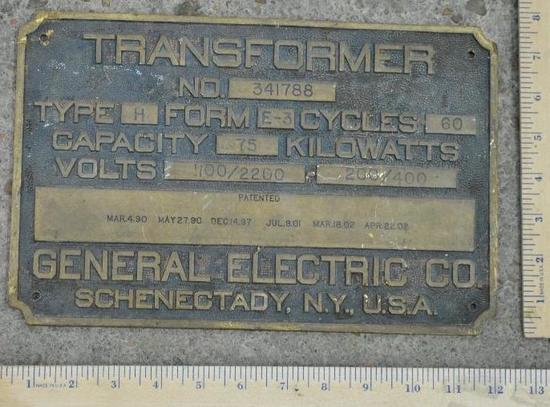 General Electric Plate