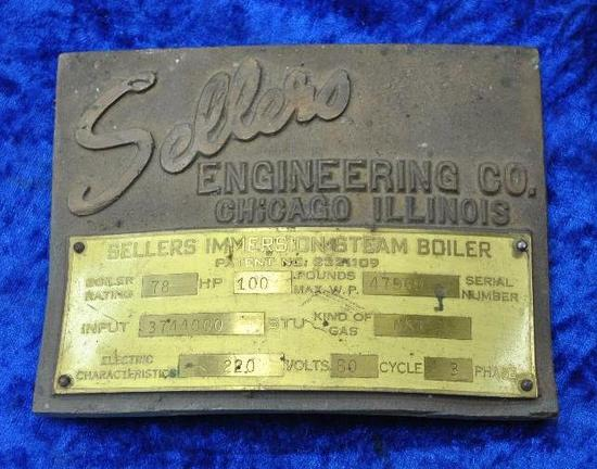 Sellers Engineering Co. Builders Plate