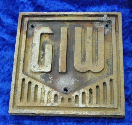 GIW Builders Plate