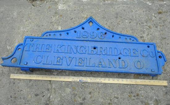 The King Bridge Co. Cast Plate
