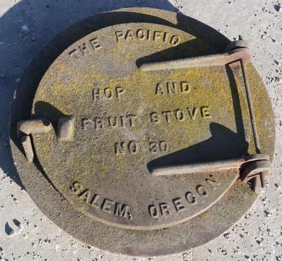 The Pacific Fruit Stove Cast Iron Door
